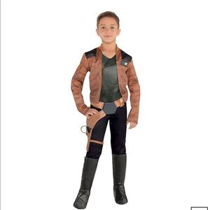 Young Han Solo Star Wars Costume With Boot Covers